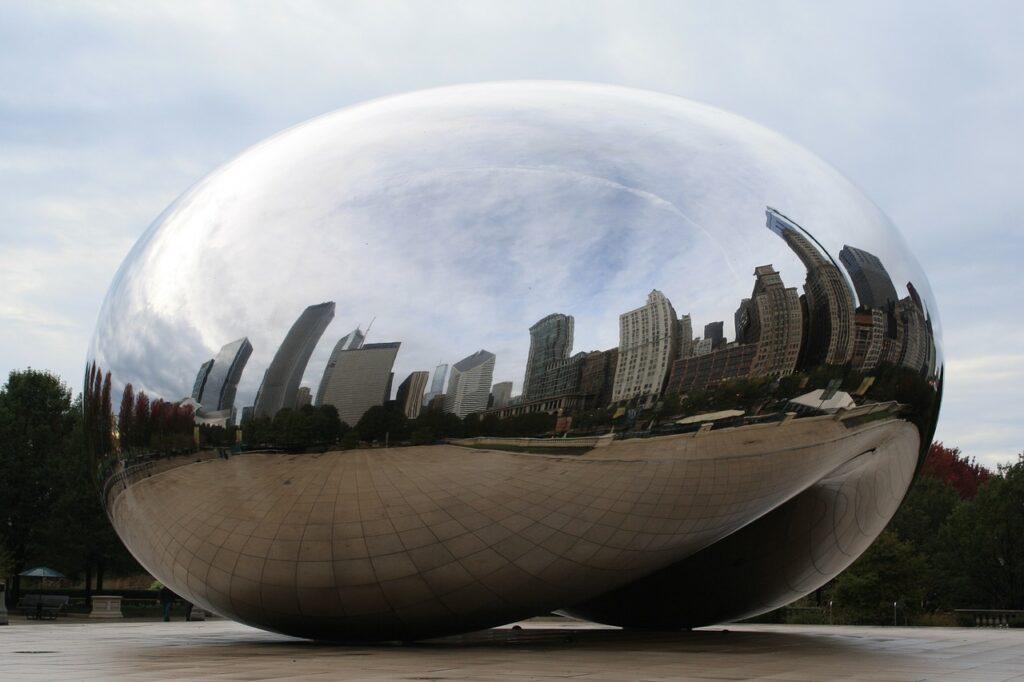 chicago, bean, day skyline
