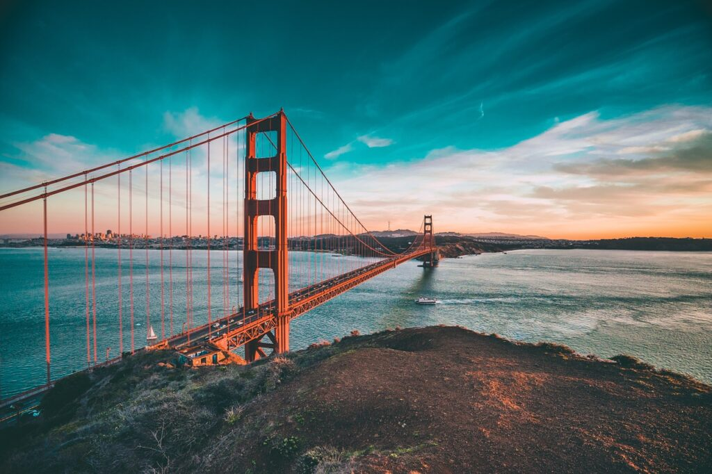 golden gate bridge, california, bridge